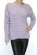 жіночий в'язаний светр шоколадного кольору, фото 3