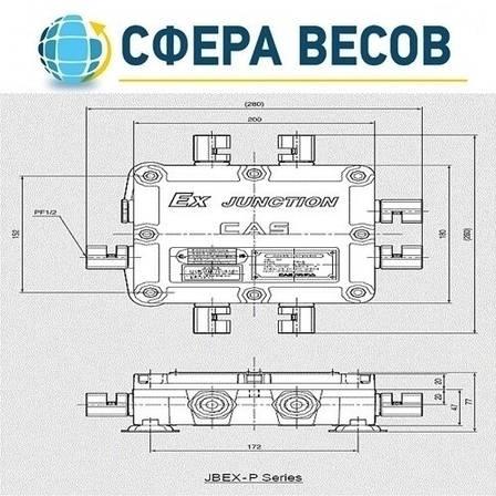 Взрывобезопасные соединительные коробки CAS JBEX-4P, фото 2