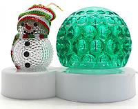 """Новорічна світлодіодна диско лампа SUNROZ Christmas Snowman Lamp """"Сніговик"""" LED RGB (SUN2428)"""