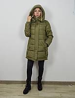 Пуховик цвета олива CLASNA 008