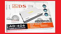 ADS AD-406 Автомобильный усилитель звука 4000Вт 4-х канальный , фото 1
