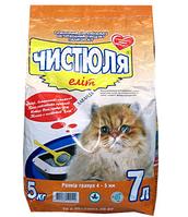 Наполнитель для кошачьего туалета ЧИСТЮЛЯ Элит Лаванда, 5 кг