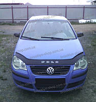 Мухобойка +на капот  VW Polo 4 с 2005 -2009г.в.(после ресталинга) (Фольксваген Поло) Vip Tuning
