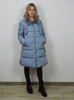 Пуховик голубой CLASNA 012