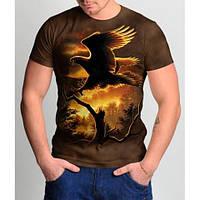 Мужские футболки 3 D   орел 2