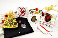 Набор для вышивки нитками украшений (микровышивка). Кольцо. НМ-01К