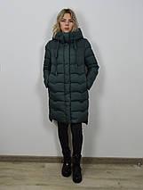 Пуховик женский темно-зеленый CLASNA 006, фото 2