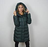 Пуховик женский темно-зеленый CLASNA 006