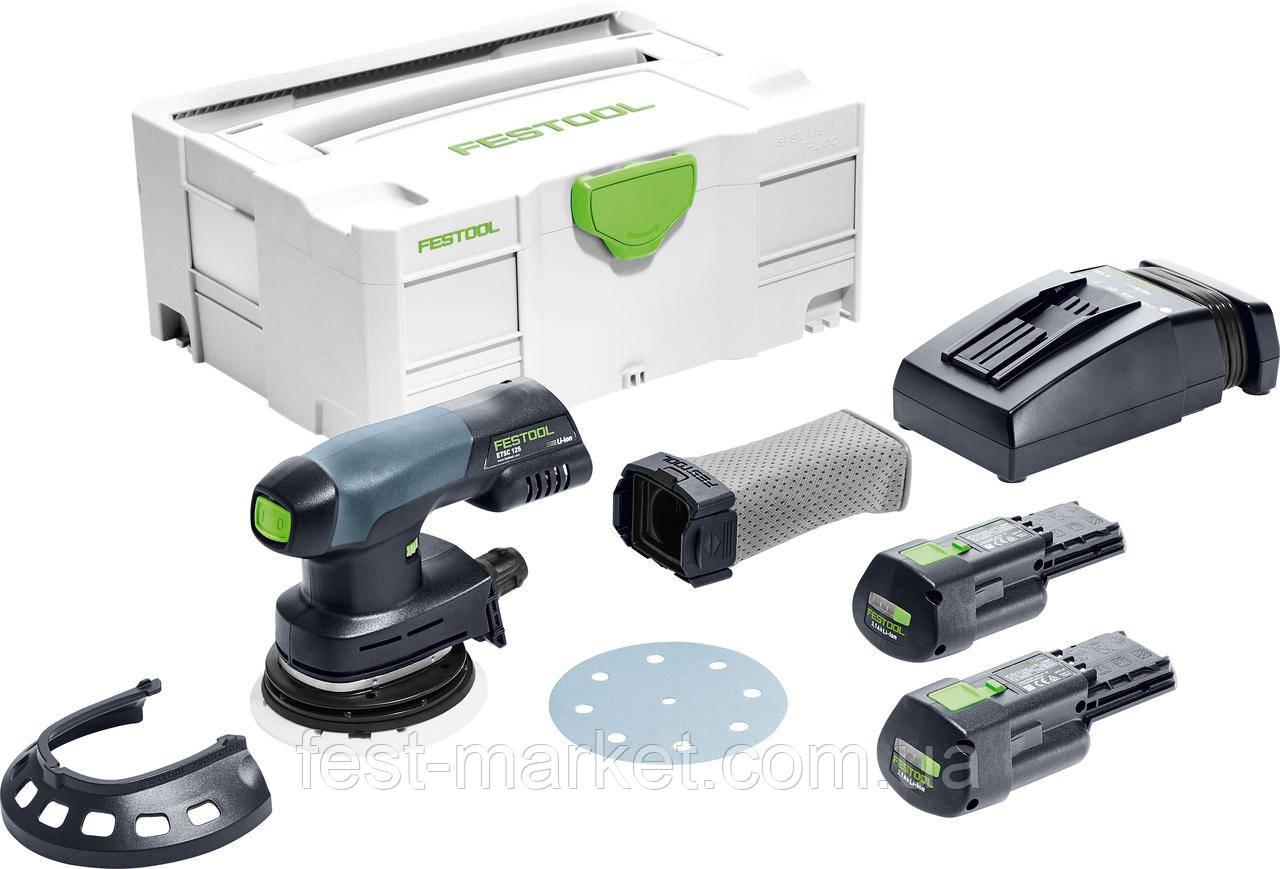 Аккумуляторная эксцентриковая шлифовальная машинка ETSC 125 Li 3,1 I-Plus Festool 575719
