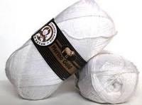 Турецкая  пряжа для вязания  Madame Tricote MERİNO GOLD 400 (мерино голд )меринос 60% шерсть - 000 белый