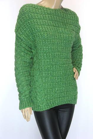 Жіночий в'язаний светр джемпер реглан, фото 2