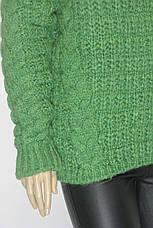 Жіночий в'язаний светр джемпер реглан, фото 3