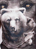 Мужские футболки 3 D   медведь