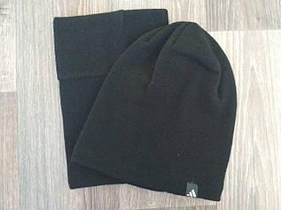 Комплект шапка и баф черный 223-36