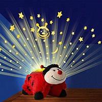 Детский светильник звездное небо Божья коровка