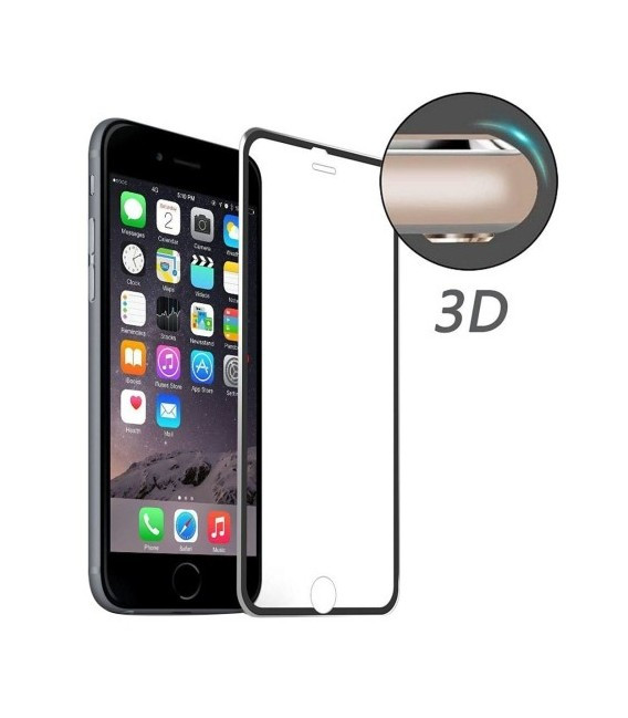 Защитное стекло с алюминевой рамкой 3D для iPhone 7 Gold
