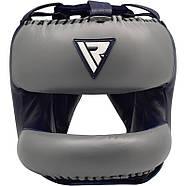 Боксерский шлем с бампером RDX Leather Pro, фото 3