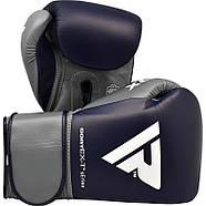 Боксерские перчатки RDX Leather Pro C4 Blue, фото 2