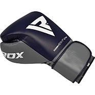 Боксерские перчатки RDX Leather Pro C4 Blue, фото 3