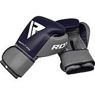Боксерские перчатки RDX Leather Pro C4 Blue, фото 7