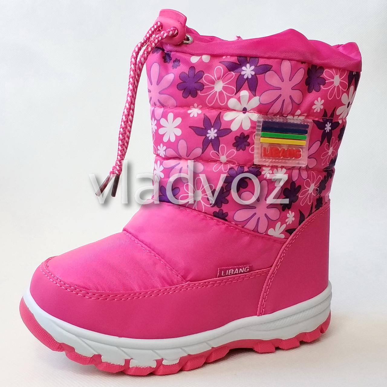 443d3cfd2 Детские дутики зимние сапоги на зиму для девочки розовые Libang 29. - ☎  VIBER 0977864700