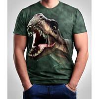 Мужские футболки 3 D   динозавр
