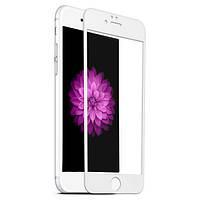 Защитное стекло 3D Carbon для iPhone 6/6s White