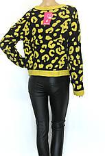 Женский свитер с леопардовым принтом, фото 3