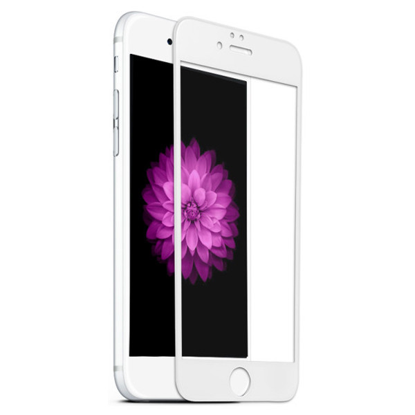 Защитное стекло 3D Carbon  для iPhone 8 White