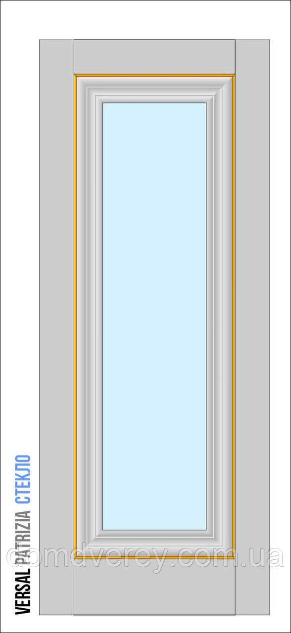 Двери межкомнатные, Родос, Versal, Patrizia, со стеклом, basic molding