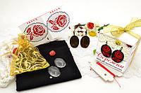 Набор для вышивки нитками украшений (микровышивка). Сережки. НМ-01С