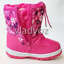 256325a34 Детские дутики зимние сапоги на зиму для девочки розовые Libang 28р., фото 2