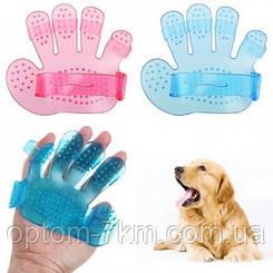 Силіконова рукавиця для вичісування шерсті PET WASH BRUSH