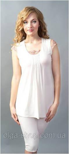 Пижама женская Shato 500/2 (домашний комплект, футболка и бриджи, одежда для дома)