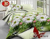 """Комплект постельного белья 2 спальный """"ромашки 3D"""" ренфорс"""
