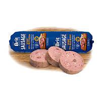 Колбаса для собак Brit Premium Dog Sausage с говядиной и рыбой для активных собак, 800 г