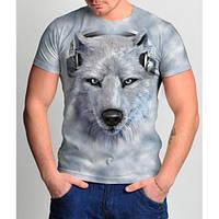 Мужские футболки 3 D   волк
