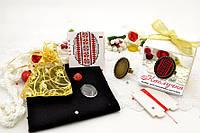 Набор для вышивки нитками украшений (микровышивка). Кольцо. НМ-02К