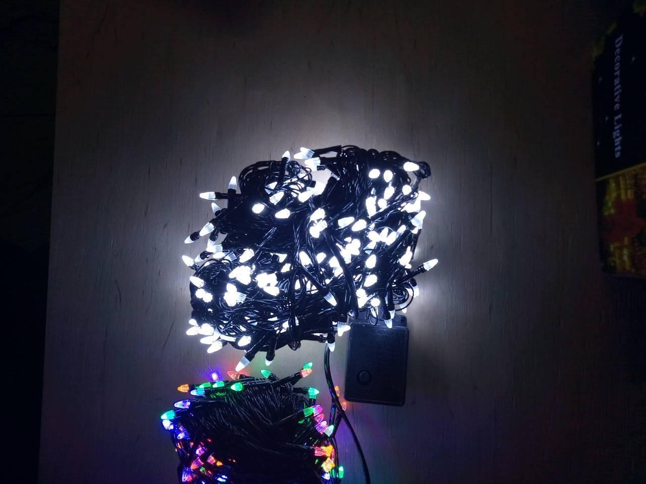 Новогодняя светодиодная гирлянда КОНУС 500LED  белый