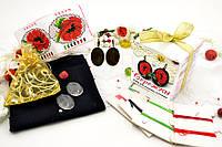 Набор для вышивки нитками украшений (микровышивка). Сережки. НМ-03С