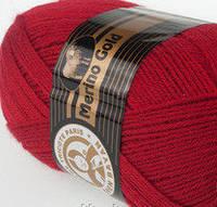 Madame Tricote   MERİNO GOLD 400 (мерино голд ) меринос 60% шерсть -033 темно-красный