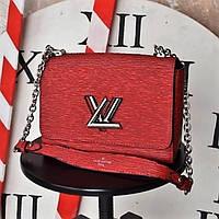 Женская сумочка Louis Vuitton (Луи Витон) TWIST, красный/белый цвет