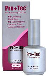 Lechat Pro-Tec Gel Top Non-Cleansing - Топ-гель без липкости, прозрачный с кисточкой, 15 мл