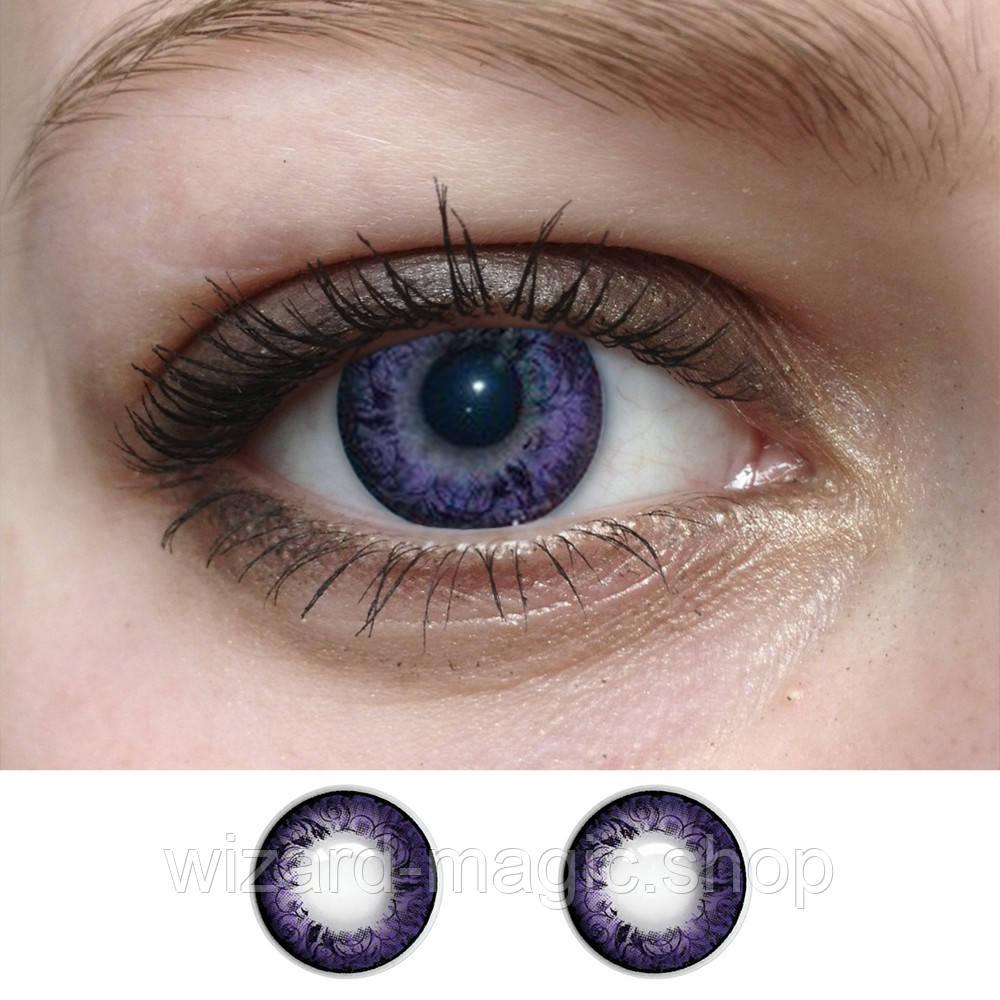 Линзы оттеночные Фиолет узор