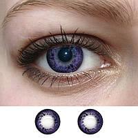 Линзы оттеночные Фиолет узор, фото 1
