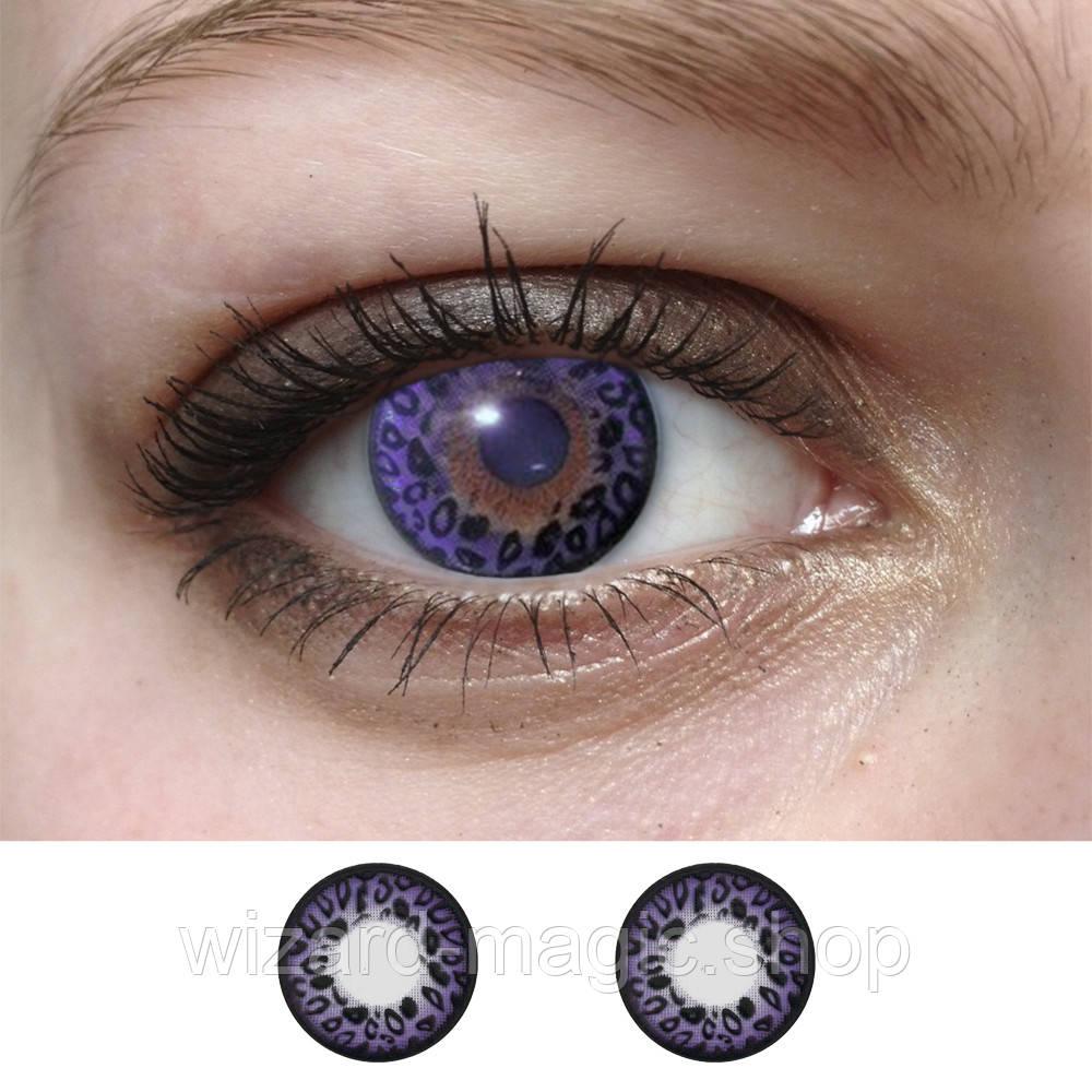 Линзы оттеночные Фиолет леон