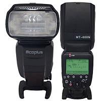 Фотовспышка Mcoplus MT-600N 1/8000, GN60 ITTL/M/ RPT S1/ S2 HSS для Nikon, фото 1