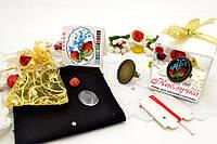Набор для вышивки нитками украшений (микровышивка). Кольцо. НМ-06К