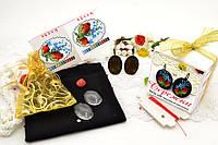 Набор для вышивки нитками украшений (микровышивка). Сережки. НМ-06С