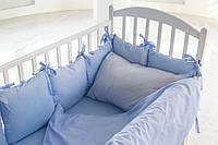 Бортики-подушки в кроватку для мальчика